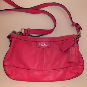 Coach POPPY Rose Leather Crossbody/Shoulder Bag